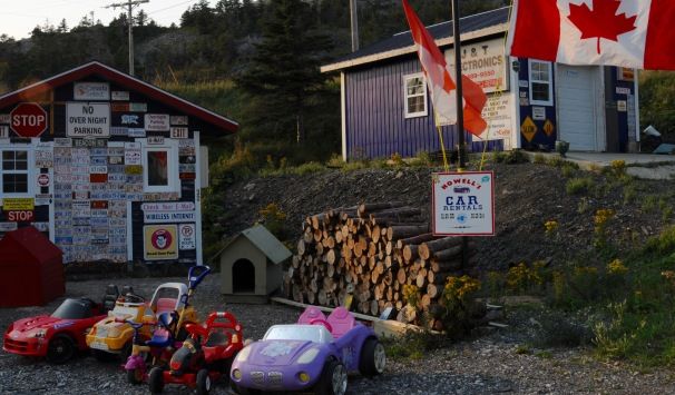 Car rental in Norris Point, Newfoundland.
