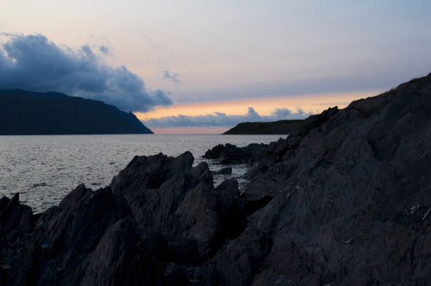 Sunset from Bonne Bay, looking towards the Gros Morne Tablelands.