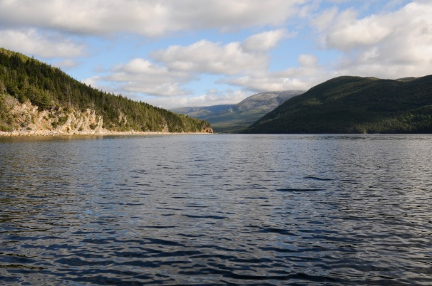 View of Gros Morne National Park from the water.