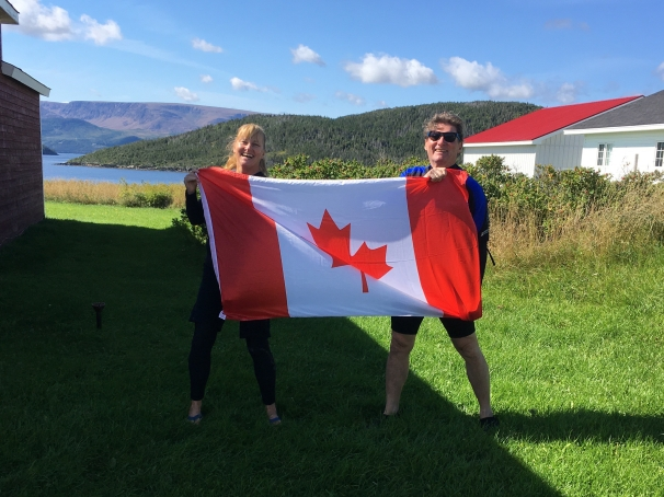 Waving the flag, Newfoundland!