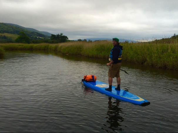 Paddling the Margaree.