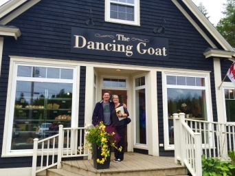 One of Pam's favourite stops in Cape Breton! The Dancing Goat in Margaree is also a local favourite.