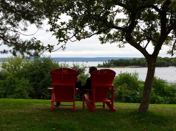 Red Chairs at the Alexander Graham Bell National Historic Site.