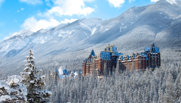 Fairmont Banff Springs - Exterior View - Winter